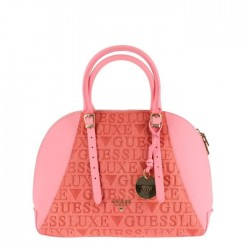 Sac à main Logo Guess Luxe en cuir rose